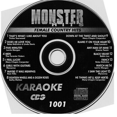KARAOKE MONTER HITS CDG 159 New Disc Set Country,Rock,Classic,Pop,w/song book