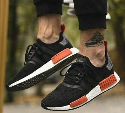 5726d1774 NEW ADIDAS NMD R1 Mens sneaker black orange burnt camo all sizes ...