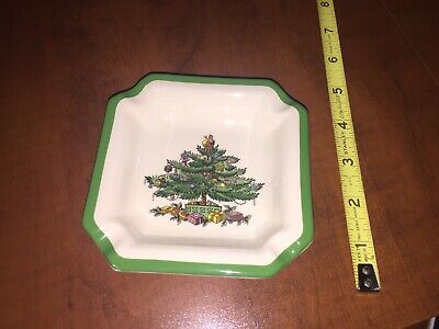 "SPODE CHRISTMAS TREE ASHTRAY4.5"" Made in england S3324-H"