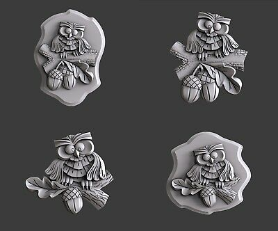 3d STL models for CNC, Artcam, Aspire, relief owl
