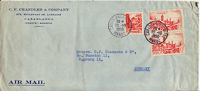 MAROCCO    Luftpostbrief Air Mail cover 1950