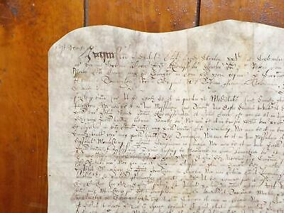 1642 Gargrave Yorkshire 17th century Latin Vellum Deed Document *repaired