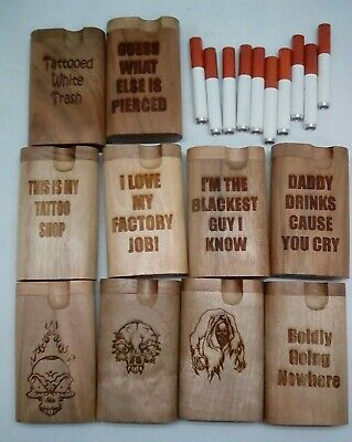 Lot of 10 assorted styles small twist top wood Dugout With one hitter bat pipe 5