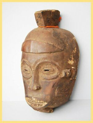 IGBO IBO MASK - Aged Tribally Used Igbo Ibo Mask, From the Congo. Central Africa