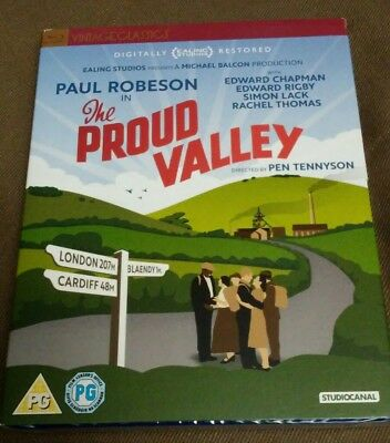 The Proud Valley Blu-ray Reg B UK Ed. Paul Robeson Brand New/Sealed w/Slipcover