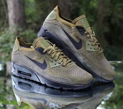 the latest 98c68 78a24 Nike Air Max 90 Ultra 2.0 Flyknit Olive Cargo Khaki 875943-302 Men s Size 15
