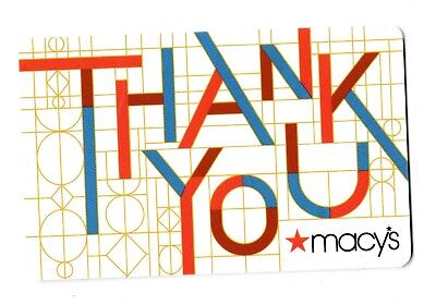 Macy's collectible gift card no value mint #52 Thank You