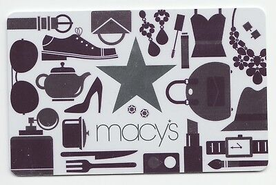 Macy's collectible gift card no value mint #16 Shopping