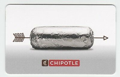Chipotle no value collectible gift card mint #23 Arrow