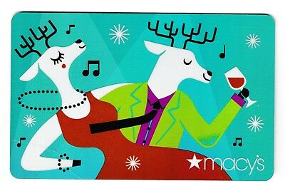 Macy's collectible gift card no value mint #43 Party