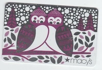 Macy's collectible gift card no value mint #26 Two Birds