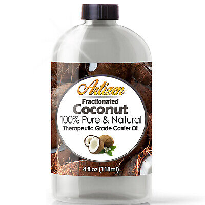 Fractionated Coconut Oil (100% PURE & NATURAL) Cold Pressed Carrier Massage Oil