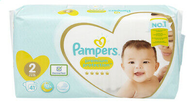 Pampers Premium Protection Baby Dry Nappy Nappies taille 2  4-8kg  41 couches