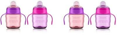 Philips Avent My Easy Sippy Cup, 6m+ 7 Oz, 2 Ct Pink/Purple SCF551/22 (2 Pack)