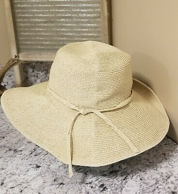 773b8580d9f84 San Diego Hat Company packable Ribbon floppy Large Brim sun hat One Size