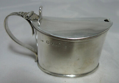 Large Victorian Silver Mustard Pot WH London 1887 107g A695417