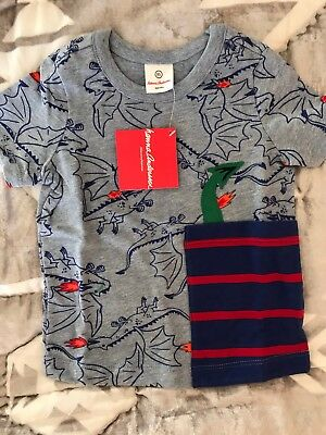 Hanna Andersson New NWT 80 85 90 2T 3T Boy's Dragon Dinosaur Fantasy Top Shirt