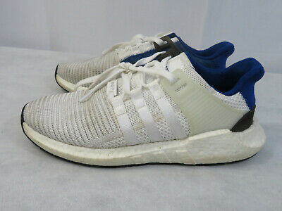 size 40 3e262 d46fc ADIDAS EQT SUPPORT 93/17 White Blue Light Gum PK Boost Stripes BZ0592 Size  10.5