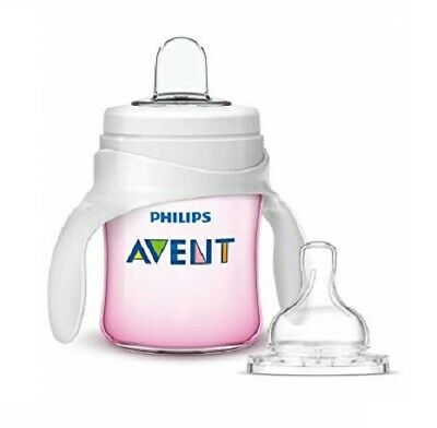 Philips Avent My Natural Trainer Transition Cup, 4m+ 5 oz Pink SCF262/04