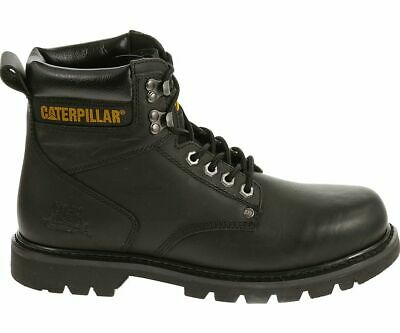 "Cat Footwear Men's Second Shift Leather 6"" Steel Toe Work Boot Leather Slip Res"