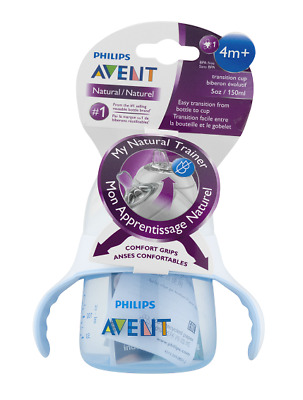 Philips Avent My Natural Trainer Transition Cup 4m+ 5 Oz, Blue SCF262/04