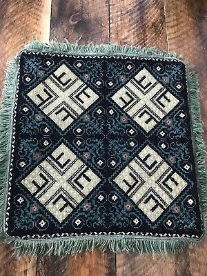 ANTIQUE ARTS AND CRAFTS MISSION ERA Wool Needlepoint Hand Made PILLOW