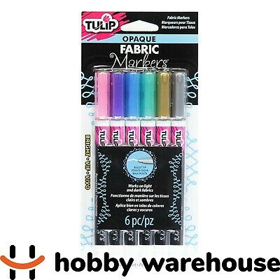 Tulip Opaque Fabric Markers Bright 6 Pack