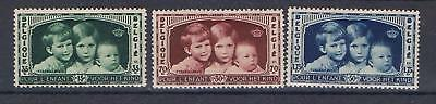 Belgium 1935 Queen Astrid Appeal Child Welfare set SG 680-82 MNH