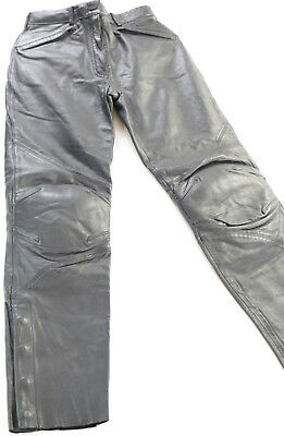 womens harley davidson leather pants chaps 34/6 fxrg hip knee armor waterproof