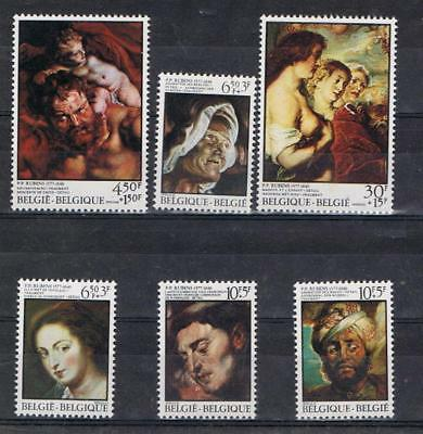 Belgium 1976 Rubens paintings set SG 2438-43  MNH