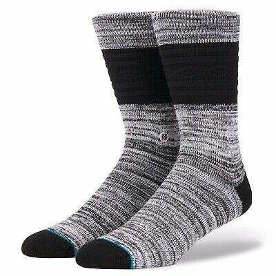 Stance Gozzi Boot Socks Basketball Black Men's Large 9-12 Supima Cotton (6A1)