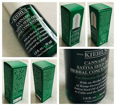 RRP $49/- KIEHLS SATIVA SEED OIL HERBAL CONCENTRATE for PROBLEM SKIN 1.0 oz/30mL
