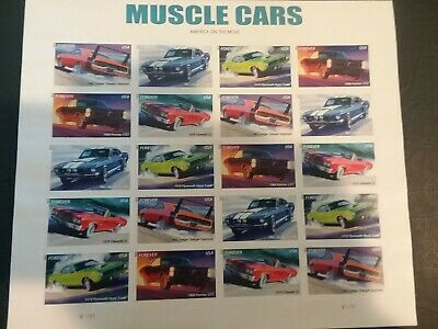 U.S. Postage Stamps - Muscle Cars Stamp Sheetlet