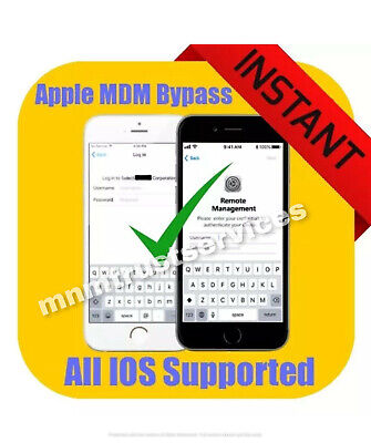 APPLE MDM/ REMOTE MANAGEMENT BYPASS iPHONE/ iPOD/ iPAD IOS 12.4.1 SUPPORTED