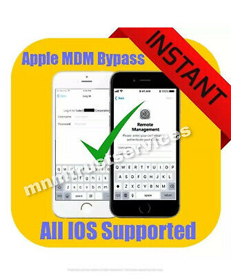 APPLE MDM/ REMOTE MANAGEMENT BYPASS iPHONE/ iPOD/ iPAD TILL IOS 13.1 SUPPORTED