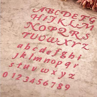 Arabic Numerals Numbers Alphabet Letters Cutting Dies Stencils for Scrapbooking