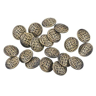 20PCs Metal Shank Buttons Sewing Knots Round Bronze Tone Sewing 17mm