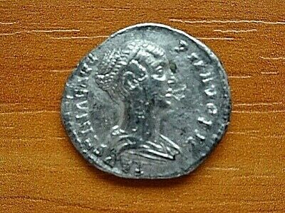 Faustina II wife of Marcus Aurelius AR Denarius Ancient Roman Coin