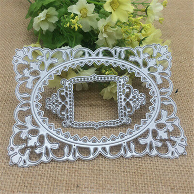 Hollow Frame Flower Border Metal Cutting Dies Stencil for DIY Scrapbooking A1