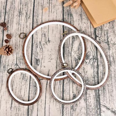 Embroidery Hoops Frame Set Bamboo Wooden Hoop Rings  DIY Cross Stitch Tools