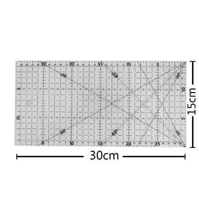 30 X 15cm Sewing Patchwork Foot with Ruler Grid Cutting Tailor Craft Scale