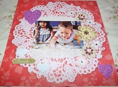 "Scrapbook Page Handmade12 X 12  ""Friends""....Huge Sale"
