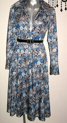 Vintage Awesome Floral Boho Zipper Dress Size 10 - 12