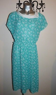 VINTAGE CLASSIC 1980's SHEER SUMMER DAY DRESS SIZE 8
