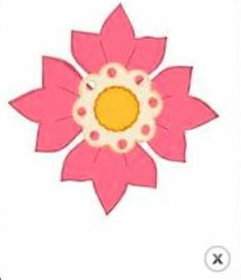Bosskut - Design A Flower die - for use in most cutting systems