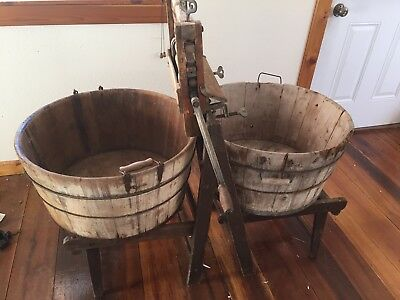 Antique Anchor Wringer Washing Machine with Wooden Tubs