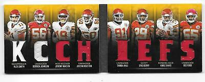 2016 Panini Preferred jersey Chiefs Game-Used Jersey Booklet football card 41/49