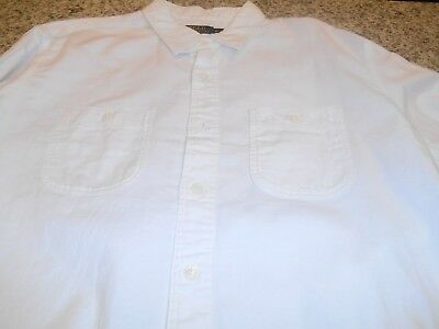 New Polo Ralph lauren Shirt Classic Fit Long/S Size XLarge White