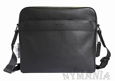 ed29baf77fdd New COACH Men s Charles Camera Bag F24876 Crossbody Pebble Leather Black   350