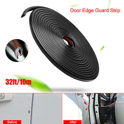 32Ft/10M Car Door Edge Guards U Shape Trim Rubber Seal Protector for Most Car